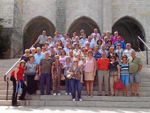 Los mayores de San Juan en un momento del viaje.