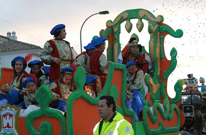 Ediciones pasadas de la cabalgata de los Reyes Magos.