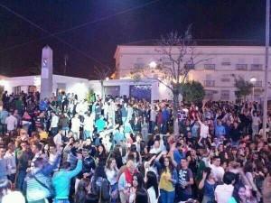 Miles de jóvenes se reunieron en la zona joven.