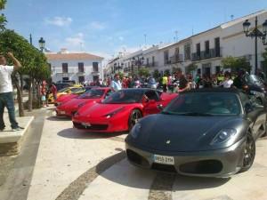 Algunos de los coches participantes.