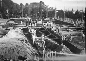 Construcción del centro.