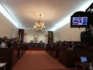 Celebración del Pleno de Diputación.