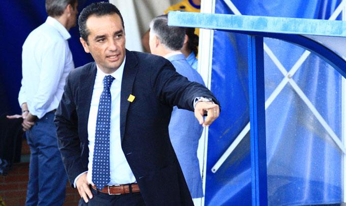 José Luis Oltra no quiere que haya confianzas excesivas ante el Mirandés. / Foto: Josele Ruiz.