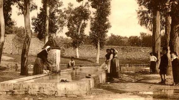 Fuente de la Albuhera de Aracena en la década de los años 20 del siglo XX