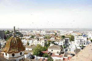Vistas de Huelva desde una de las torres. /Foto: Jesica Berrio.