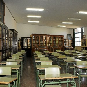 Biblioteca IES La Rábida. /Foto: Jesica Berrio.