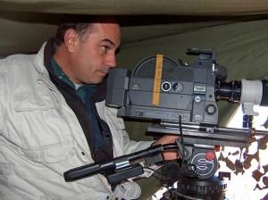 El director, durante el rodaje de la película.