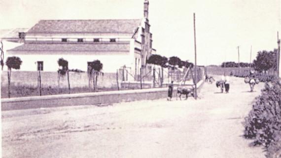 Iglesia de San José Obrero, en la calle Roque Barcia, en la segunda década del siglo XX