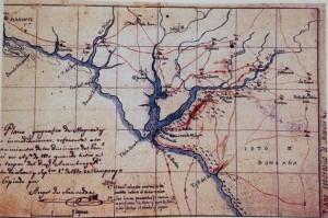 Una imagen de la réplica del mapa firado por D. Ángel de Saavedra.