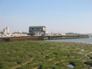 Muelle de Tharsis desde Corrales.