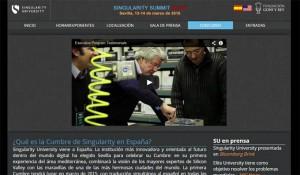 Web de la Cumbre Europea de la Singularity University.