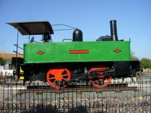 Máquina del tren que procedía de Tharsis. / Foto: pueblos-espana.org.