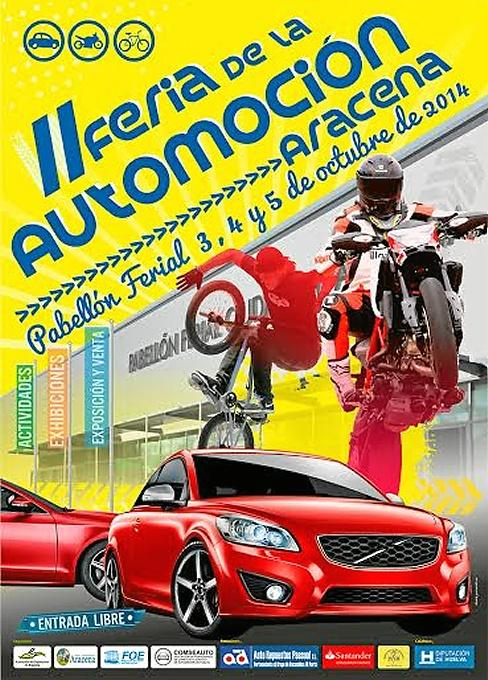 Cartel de la II Feria de Automoción de Aracena.