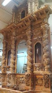 El retablo en el taller de Daniel Sánchez. Foto: Manuel Jesús Martín