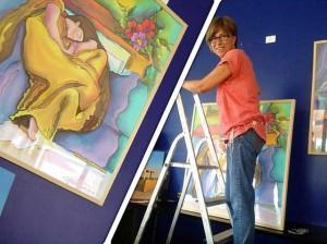 Ana Bella ha creado Masseda, una empresa artesanal de pintura en seda.