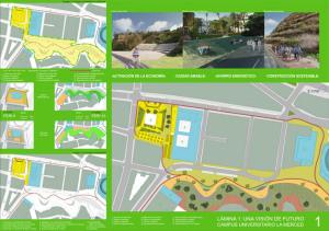 Primer panel del proyecto universitario del Campus de La Merced.