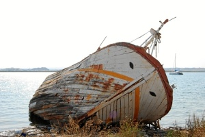 Un barco abandonado le hizo interesarse en este tema.
