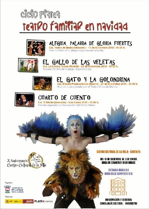 Cartel del Festival de Teatro Familiar de Cartaya.