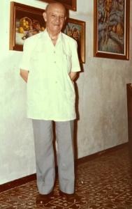 Gomez Feu en su estudio de Ayamonte.