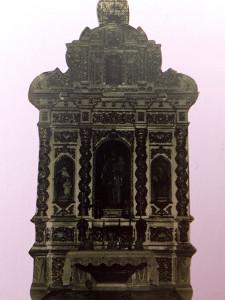 Fotografía antigua del retablo. Fondo Diego Díaz Hierro, Archivo Municipal de Huelva.