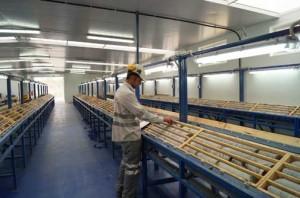 Nueva nave de sondeos de MATSA,   donde están las cajas fabricadas por Aspromin.