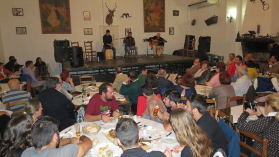 Buen ambiente en la Taberna Flamenca celebrada en Moguer