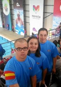 Representantes del Coda en el Mundial de Natación para personas con Síndrome de Down.