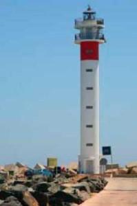 Faro de Huelva capital. / Foto: Guía del patrimonio cultural de Andalucía.