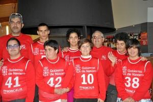 Los representantes del Coda que participaron en el Campeonato de España de Esquí Nórdico.