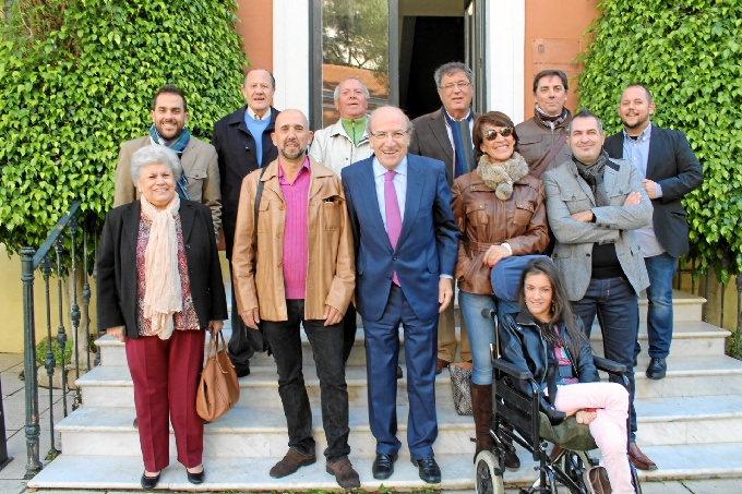 Foto de familia de los Premios al Onubensismo.