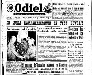 Ernesto Feria fue colaborador de Odiel, el único diario de la provincia en esta etapa.