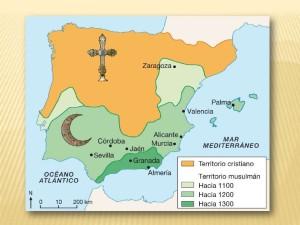 Mapa de Al-Andalus.