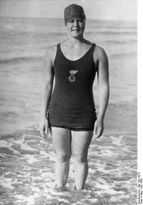 Gertrud Ederle, nadadora a la que Miss Whitney dedicó un monumento.