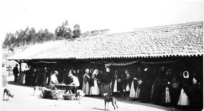 Plaza de Abastos de La Zarza en 1914