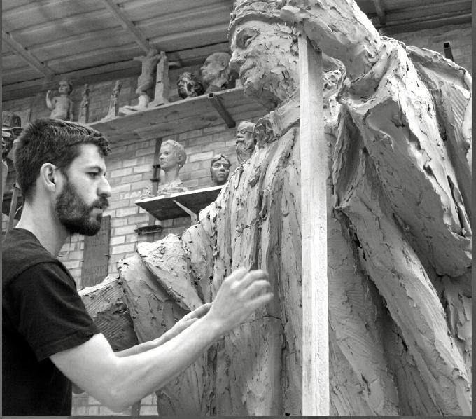 Martín Lagares plasma sentimientos y expresiones en cada una de sus obras.