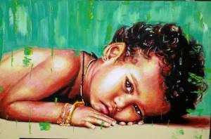 Una de las obras de la artista.