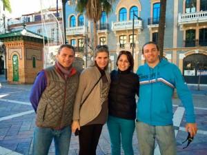 Esta Navidad han estado en Huelva visitando a la familia.
