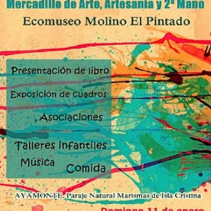 Cartel Mercadillo de Artesanía Ayamonte.