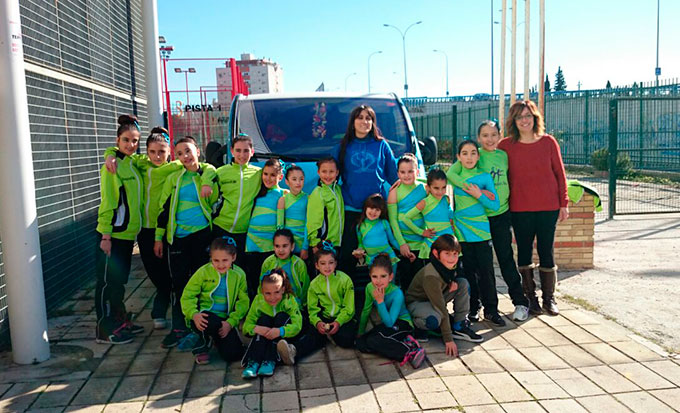 Representantes del Club Patinaje Artístico Huelva que estuvieron en Mérida.