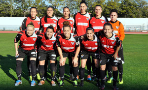 Victoria de fe del Fundación Cajasol Sporting. / Foto: J. L. Rúa.