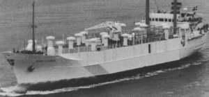 """Buque botado en 1967 con el nombre """"Huelva"""". Después, en 1981, se rebautizó Diana Clauden"""