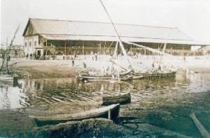 Dique de Pescadería de Huelva hacia 1894.