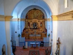 Interior de la Parroquia./Foto: castanodelrobledo.illisoft.net/