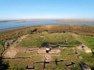 Lugar de desarrollo de las excavaciones de la Alcazaba de Saltés.