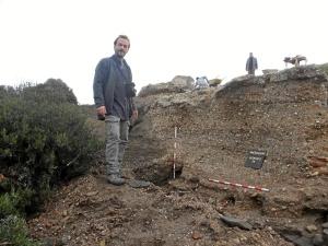 Jesús de Haro, director de las excavaciones realizadas.