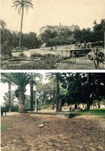 Comparación entre la situación actual del lugar y una vista tomada en 1907 por Diego Calle