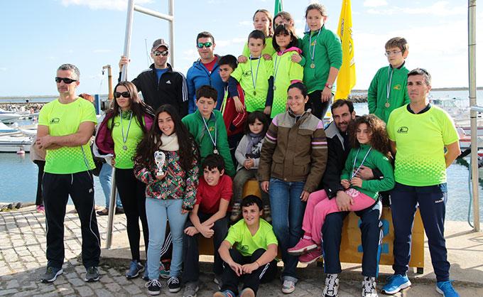 Los representantes del Club Tartessos desplazados hasta Olhao.