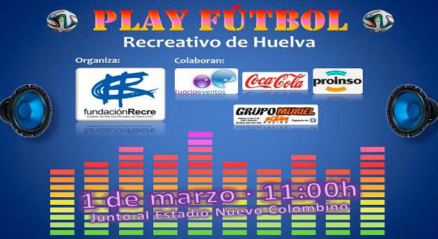 Cartel anunciador del evento lúdico que tendrá lugar el domingo antes del partido con el Racing.