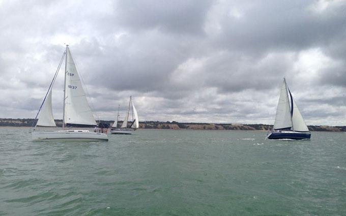 Buena jornada náutica en Mazagón el pasado sábado.
