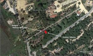 Descripción visual del lugar donde se encuentran los restos de la alberca
